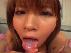 Great close up in japanese teen oral sex pov