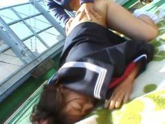 Chubby Misa Kashigawi hammered outdoors