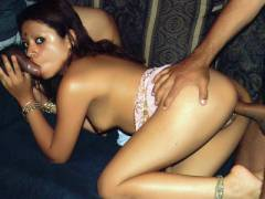 Indian Hottie Gets Double Teamed