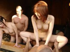 Babes and lads enjoy in hot spring sex gang bang