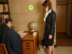 Office lady got banged in a private home