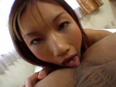 Maria Fujisawa licks bun and sucks peter