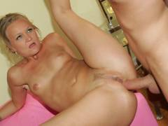 See erotic mature Katie Gold pussy stuffed